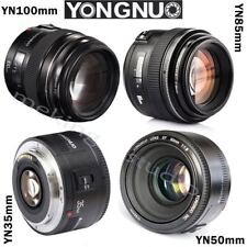 Yongnuo YN 35mm 50mm 85mm 100mm EF AF / MF Prime Fixed Lens for Camera Canon EOS