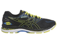 NEW MENS ASICS GEL-NIMBUS 20 RUNNING SHOES TRAINERS BLACK / SULPHER SPRING / VIC
