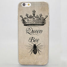 Luxury Brand Queen Bee Hard Cover Coque Shell Case For All Phone Models
