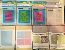 New Cuttlebug & Sizzix Christmas Winter Snowflake Holly Words Embossing Folders