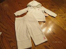JUICY COUTURE BABY GIRL WHITE TERRY CLOTH JOG SET SIZE 12 MONTHS NWT