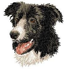 Border Collie Dog, Embroidered Patch, or Embroidered Hat