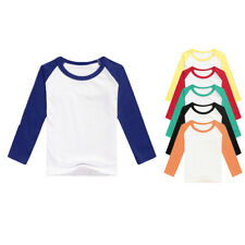 Kids T Shirt Baseball Raglan Tee Short / Long Sleeve Jersey Boys Girls Baby Tops