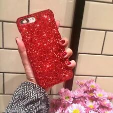 Luxury Bling Red Black Glitter Shining Hard Case Cover for iPhone 8 8 Plus  X 6S