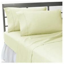 Ivory Solid Bedding Items 1000 TC Soft Egyptian Cotton All UK Size