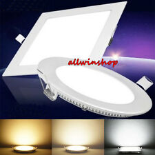 Dimmable 6W 9W 12W 15W 18W LED Recessed Ceiling Panel Down Lights Bulb Fixture Y