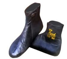 Leather Socks 100% Genuine Indoor House Shoes Slippers 2 PCS Size S/M/L/XL/XXL