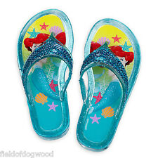 NWT Disney Store Princess Ariel Jelly Sandals Shoes 9/10,11/12 Girls