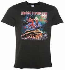 Official Men's Charcoal Iron Maiden Run To The Hills T-Shirt from Amplified
