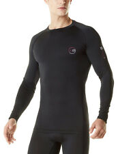 Activ8 Mens Thick Compression Lonsg Sleeve Top Baselayer Quick Dry Sports Black