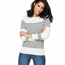 The Collection Womens Ivory Striped Zip Shoulder Jumper From Debenhams Size