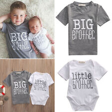 Newborn Baby Boys Romper Bodysuit Big Brother T-shirt Tops Outfits Family Set