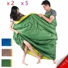 "Double Sleeping Bag 23F/-5C 2 Person Camping Hiking 86""x60"" 2 Pillows 320D Nylon"
