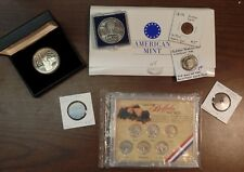Small Estate Lot of Misc Coins, Sterling Silver, Nickels, Old US Cents, Tokens,