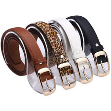 Hot Lady Womens Paint Leather Alloy Pin Buckle Strap Belts Waistband Hot Waist