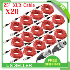 25FT foot 3pin shield XLR male to female audio microphone extension cable LOT OY