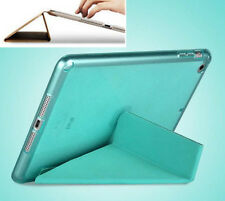 Magnetic Wake Smart Front Cover Soft TPU Transparent Back Cover For IPad Air2