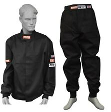 FIRE SUIT 2 PIECE PACKAGE JACKET AND PANTS SFI 3-2A/1 BLACK SM MD LG XL 2X 3X