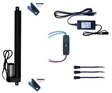 WindyNation 12V Linear Actuator + UP Down Switch + Power Supply + Brackets