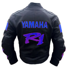 Men R1 Sports Motorbike Racing Leather Jacket Motorcycle Leather Jacket Armor