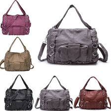 Large PU Leather Satchel Tote Handbags Women Shoulder Casual Crossbody Bag Purse