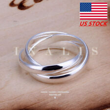 Size 6,7,8,9,10 Fashion Womens Mens Engagement Rings Jewelry Party Wedding Gifts