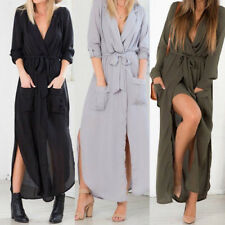 2018 Fashion Womens Summer Casual Long Sleeve Evening Party Cocktail Long Dress