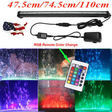 Remote Control LED Aquarium Fish Tank Air Bubble Light Changing 16 Colors OY