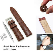 Soft Genuine Leather Wrist Watch Band Strap Bracelet Replacement 18/20/22/24mm
