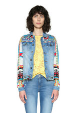 Desigual Blue Bright Embroidered Fiorella Denim Jacket 36-46 UK 8-18 RRP ?109
