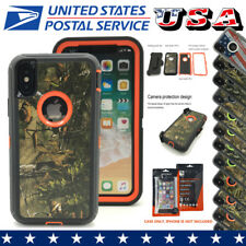 Belt Clip Defender Case Protective Rubber TPU+PC Shockproof Cover For iPhone X