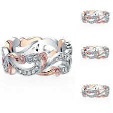Size 6,7,8,9 Fashion Womens Flower Shape Engagement Rings Party Wedding Gifts