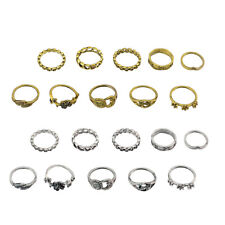 10Pcs Boho Retro Women Above Knuckle Band Mid Midi Rings Tip Finger Stacking