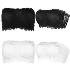 Strapless Bandeau Tube Top Bra Womens Lace Padded Tube Top Chest Wrap Bra Tank