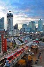Canary Wharf East India DLR Station London Docklands photo picture poster print
