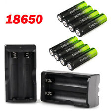 18650 Battery Li-ion 3.7V Rechargeable Batteries Dual Charger for Torch Lamp USA