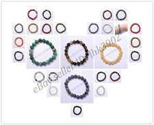 Wholesale 8MM Natural Gemstone Round Beads Stretchy Bracelets Assorted Stones