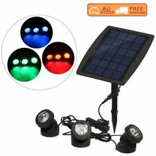 Solar Powered RGB/White LED Outdoor Spot Light Garden Landscape Yard Lawn Lamp A