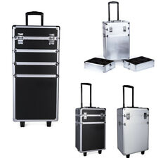 Pro Makeup Rolling Trolley Beauty Case Travel Vanity Cosmetics Nail Storage Case