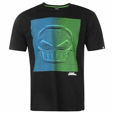 MENS BLACK NO FEAR MX MOTOCROSS SKULL SHORT SLEEVE CREW NECK TEE SHIRT T-SHIRT