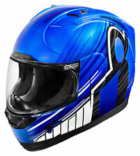 ICON MotoSports Alliance OVERLORD Full-Face Motorcycle Helmet (Blue) Choose Size