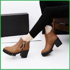 Women Ankle Boots shoes European Ladies Solid PU Leather Fashion Boots
