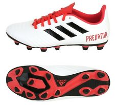 Adidas Men Predator 18.4 FxG Cleats Soccer White Red Football Shoes Spike CM7669