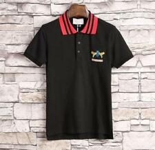Colorful Embroidery Insect  Logo Design Men's New  Fashion Polo T-shirt 2Colors