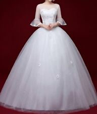 New Wedding Dress Bridal gown lace any plus size custom made tulle sweet heart
