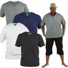 Mens D555 New Premium Weight Combed Cotton King Size Crew Neck T-Shirts BNWT