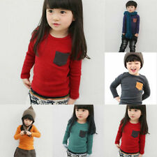 2-7Y Toddler Kids Baby Girls Boys Long Sleeve T-shirt Casual Tops Clothes Blouse