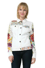 Desigual La La For You White Denim Jacket 36-46 UK 8-18 RRP ?109 Embroidered