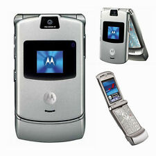 Grade A Original Unlocked Motorola RAZR V3 Flip Mobile Phone Cellphone FREE SHIP
