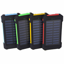 NEW 8000mAh Solar Power Bank Panel 2 USB Portable Pack Charger for Mobile Phone